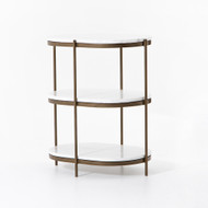 Four Hands Felix Oval Nightstand - Antique Brass