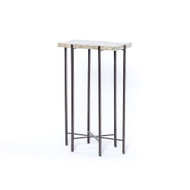 Four Hands Kieran Accent Table - Ash Brown Marble