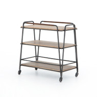 Four Hands Garland Bar Cart - Light Brushed Parawood