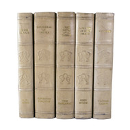 E Lawrence English Fine Leatherbound Books - Putty
