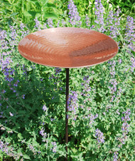 Polished Copper Birdbath with stand