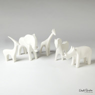 Global Views Horse - Matte White