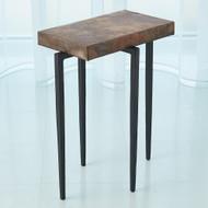 Studio A Laforge Accent Table - Black w/Oxidized Copper Top