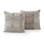 Four Hands Faded Block Print Pillow, Set Of 2 - 20X24