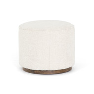 Four Hands Sinclair Round Ottoman - Knoll Natural (Store)