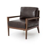 Four Hands Laurent Wood Frame Accent Chair - Dk Brn L