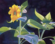 Art Classics Gold Flower with Green Leaves