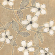 Art Classics White Blossoms on Suede I