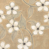 Art Classics White Blossoms on Suede II