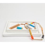 Pigeon & Poodle Finley Tray Set - White