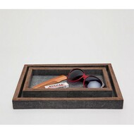 Pigeon & Poodle Manchester Tray Set - Grey