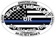 BACK THE BLUE OUTDOOR STICKER