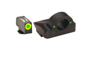 GHOST MAKER Ghost Ring Sight For GLOCK's 9mm/40 Green/Green