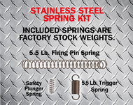 TACTICAL SPRING KIT- STOCK STAINLESS GEN 1-4
