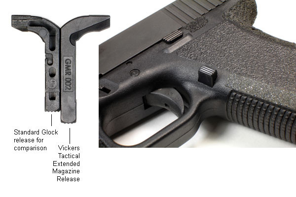 VICKERS GLOCK TACTICAL MAGAZINE CATCH  45/10MM