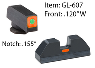 Orange CAP Sights for G42/43/43X & 48
