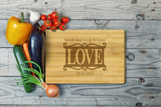 Personalised Chopping Board Standard - Couples - Love