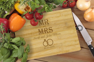 Personalised Chopping Board Standard - Couples - Mr & Mrs
