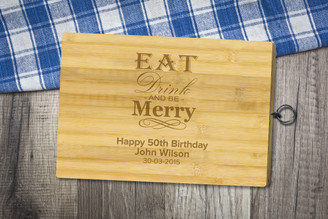 Personalised Chopping Board Standard - Birthday - Eat and Drink
