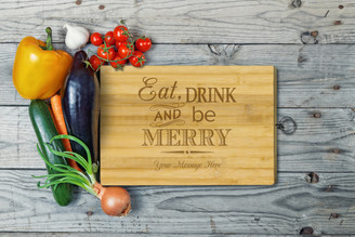 Personalised Chopping Board Standard - Eat and Drink - Your message