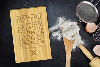 Personalised Chopping Board Standard - Kiwi Food - Your Message