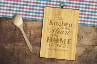 Personalised Chopping Board Standard - Kitchen Heart - Your Message