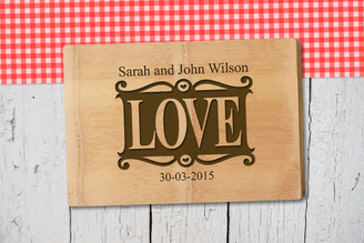 Personalised Chopping Board Premium - Couples - Love