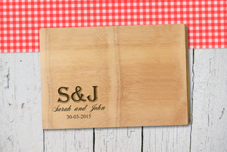 Personalised Chopping Board Premium - Couples - Small Initials