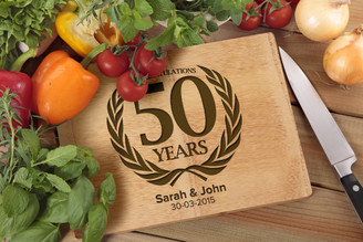 Personalised Chopping Board Premium - Anniversary - Laurel