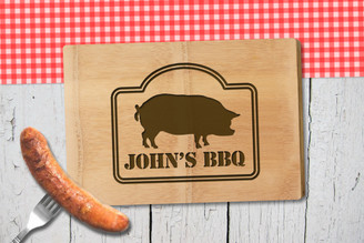Personalised Chopping Board Premium - BBQ - Boar
