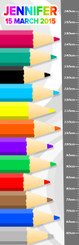 Growth Chart - Pencils