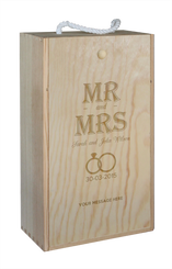 Wine Box - double - Mr & Mrs - Rings