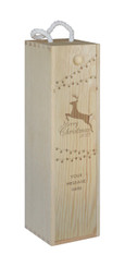 Wine Box - single - Christmas Reindeer