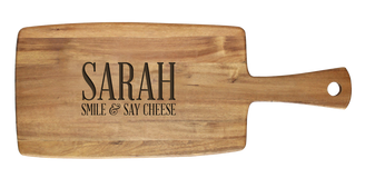 Personalised Cheese Board - Smile