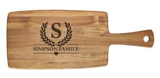 Personalised Cheese Board - Family Laurel