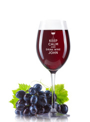 Personalised Wine Glass - Keep Calm
