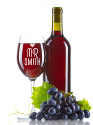 Personalised Wine Glass - Mr