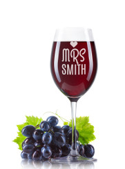 Personalised Wine Glass - Mrs
