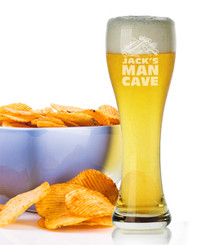Personalised Beer Glass - Man Cave