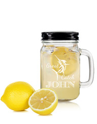 Personalised Mason Drinking Jar - Great Catch.