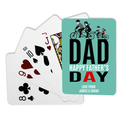 Personalised Playing Cards - Father's Day bikes