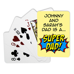 Personalised Playing Cards - Super Dad