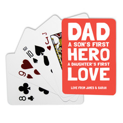 Personalised Playing Cards - First Hero First Love