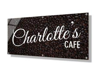 Business sign 30x60cm - Coffee beans