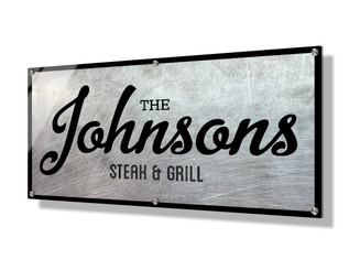 Business sign 30x60cm - Scratch Metallic