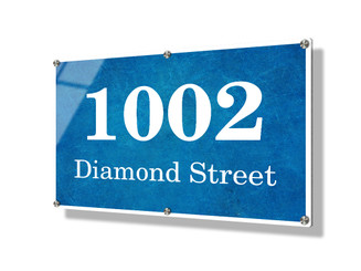Business sign 50x75cm - Blue texture