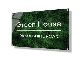 Business sign 50x75cm - Green foliage