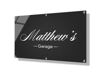 Business sign 50x75cm - Steel mesh
