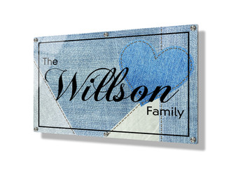Business sign 50x75cm - Blue denim