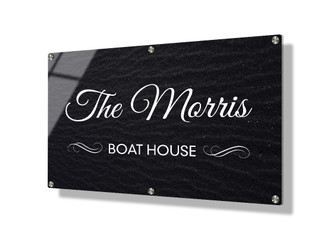 Business sign 50x75cm - Black sand